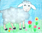 Cotton ball sheep activity sheet