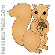 squirrel color sheet and activity page
