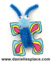 Butterfly Pin or Magnet Craft for Kids www.daniellesplace.com