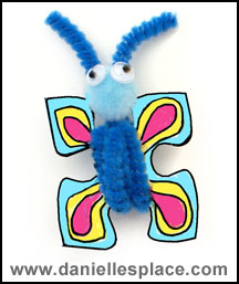 Butterfly Puzzle Piece Craft