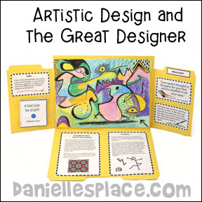 Creativity Folder - For Christian Art Lesson About Lines from www.daniellesplace.com