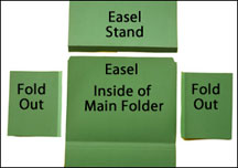 File folder easel stand www.daniellesplace.com