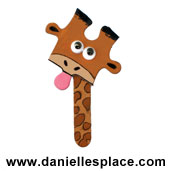 Giraffe Puzzle Piece Craft www.daniellesplace.com