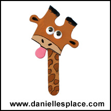 Giraffe Magnet or Pin Puzzle Piece Craft www.daniellesplace.com