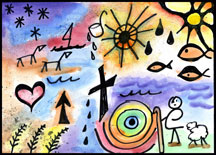 line-symbol-picture for Christian Homeschool Art Lesson