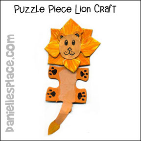 lion Puzzle Piece Crafts
