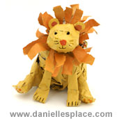 newspaper lion sculpture craft www.daniellesplace.com
