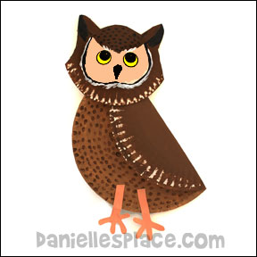 Owl Paper Plate Craft for Kids from www.daniellesplace.com