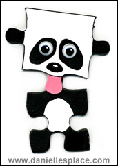 Panda Puzzle Piece Craft for Kids www.daniellesplace.com
