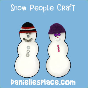 snow people craft