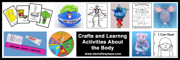 My Body Crafts and Learning Activities www.daniellesplace.com