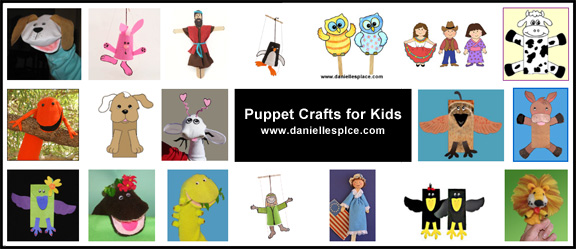 Puppet Crafts for Kids www.daniellesplace.com
