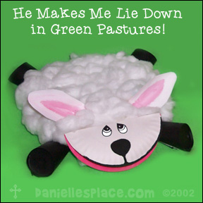 Sheep Paper Plate Craft www.daniellesplace.com