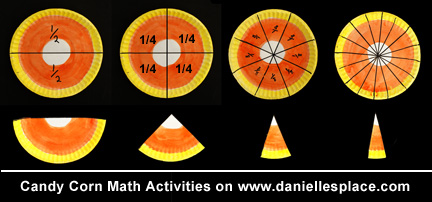 Candy Corn Fractions from www.daniellesplace.com