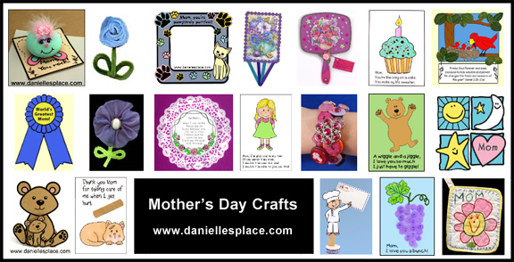 Mother's Day Craft for Kids www.daniellesplace.com