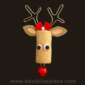 Reindeer Cork Christmas Ornament Craft