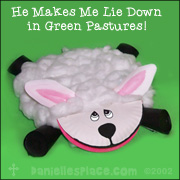 Paper Plate Sheep Craft from www.daniellesplace.com
