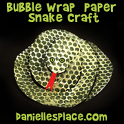 bubble wrap snake craft