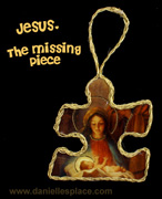 Jesus is the Missing Piece Puzzle Piece Christmas Ornament Craft