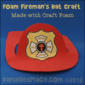 Firemans hat Bible Craft - Jesus Rescues me Sunday School Craft