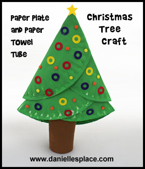 Paper Plate Christmas Three Craft for Kids www.daniellesplace.com