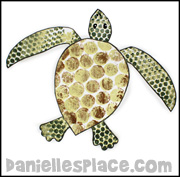 bubble wrap turtle craft