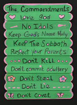 ten commandment folding craft stick craft
