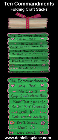 Craft Ideas Commandments on Good And Long Life Ten Commandments Folding Craft Stick Crafts