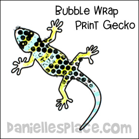 Gecko Bubble Wrap Craft