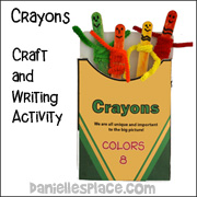 The Crayon Box that Talked - Craft and Writing Activity