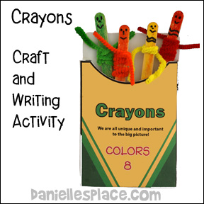 The crayon box that talked craft stick craft and writing activity for
