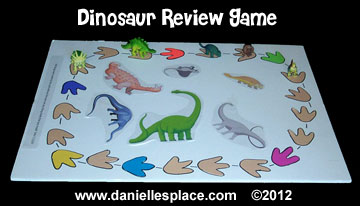 dinosaur review game www.daniellesplace.com