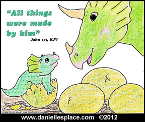 Textured Dinosaur and Baby Activity Sheet www.daniellesplace.com