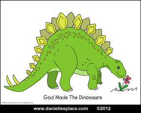 Dinosaur Coloring Sheet Picture www.daniellesplace.com