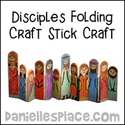 The Twelve Disciples Folding Craft Stick Bible Craft