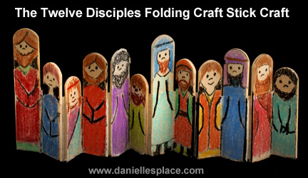 The Disciples Folding Craft Stick Bible Craft for Sunday School www.daniellesplace.com