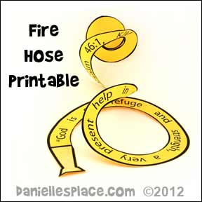 Fire Hose Printable www.daniellesplace.com