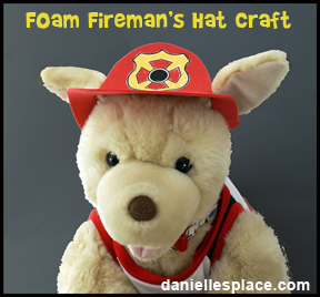 Stuffed animal fireman's hat pattern www.daniellesplace.com