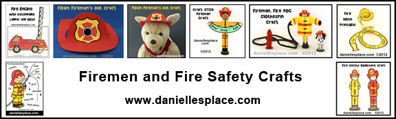 Firemen and Fire Safety Crafts for Kids