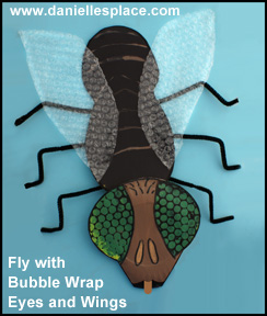 Fly with Compound Eyes Educational Craft for Children