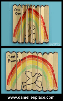 Folding Craft Stick Bible Lesson Review Craft