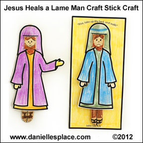 Jesus Heals the Paralytic Craft Stick Bible Craft for Sunday School www.daniellesplace.com