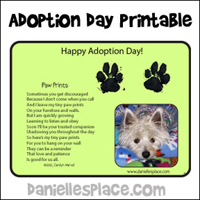 Pet Adoption Day Printable
