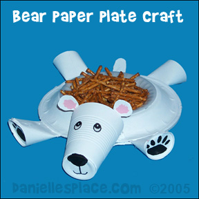 Polar Bear Dessert Dish Craft for Kids from www.daniellesplace.com