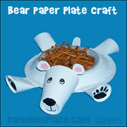Polar Bear Paper Plate Craft#dessert