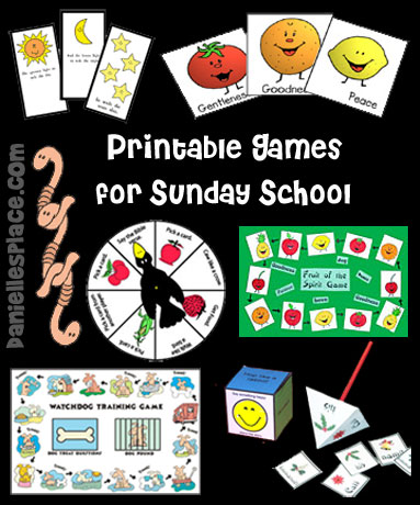 Printable Bible Games for Sunday School from www.daniellesplace.com