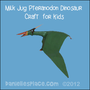 Pteranondon Milk Jug Craft for Kids