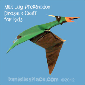 Milk Jug Pteranodon Craft for Kids www.daniellesplace.com