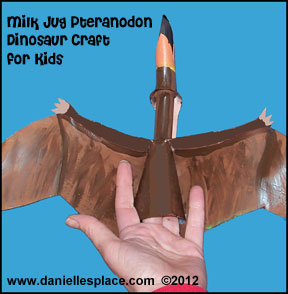 Milk Jug Pteranodon Dinosaur Craft for Kids www.daniellesplace.com