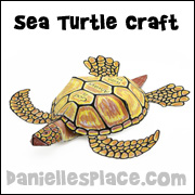 Paper sea turtle craft